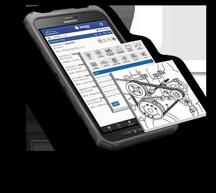 Aplikacja mobilna PDS na urządzeniu diagnostycznym lub smartfonie